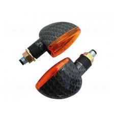 Knipperlichten Shinyo - Korte Steel - Carbon/Oranje