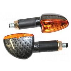 Knipperlichten Shinyo - Lange Steel - Carbonlook/Oranje