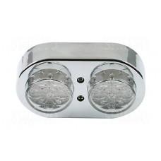 Achterlicht - Shinyo - Dubbel LED Chroom